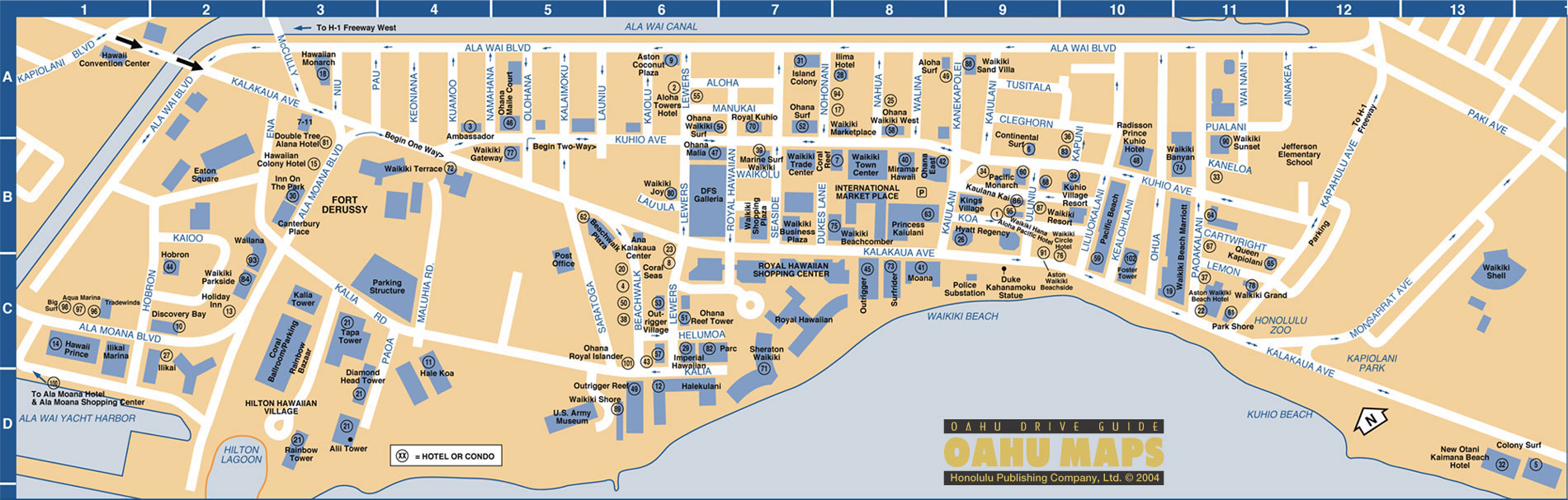 Effortless image regarding printable map of waikiki